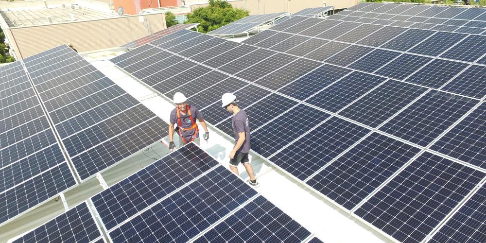 התקנת מערכות סולאריות במרכז